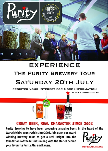 Purity Brew Tour Poster - with 3mm bleed
