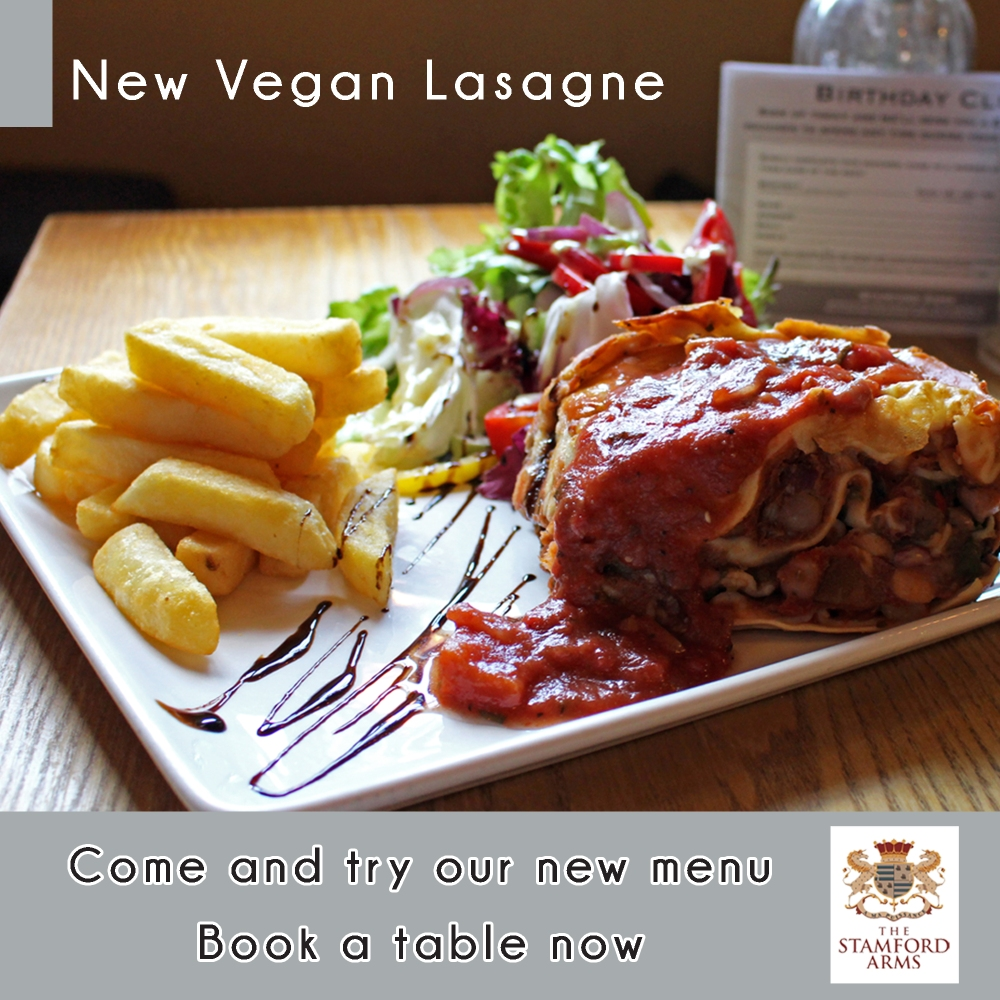 Vegan Lasagne Social Media Post